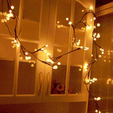 Tree Vine Lamp Copper Wire String Flexible LED Mains Socket Micro Silver Wire Copper Fairy String Light