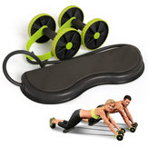 KALOAD Muscle Exercise Equipment Home Aptitud Equipamiento Rueda Abdominal de Rueda Doble Rodillo