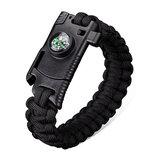 IPRee®4em1EDCBracelete de Sobrevivência Emergência ao Ar Livre 7 Núcleos Kit de Bússola Apito Bracelete Trançado