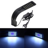 10W 24 LED Aquarium Lamp Fish Tank Water Planta Clip Light AC220V