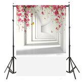 Прочная большая фототкань с цветком, белая ткань для коридора, виниловый фон для фотосъемки, гобелен для украшения дома