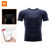 XIAOMI MIJIA Sports T-shirt Smart ADI ECG Chip Monitoring Heart Rate Fatigue Depth Analysis Washable Phone Test Body Pressure