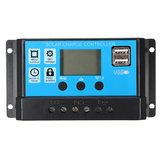 Regulador de carga solar PMW 10/20 / 30A 12 / 24V LCD Regulador Bateria Backlit