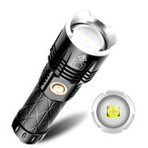XANES 1619 XPH90 1800LM 5-Modes Zoomable LED Flashlight TYPE-C USB Rechargeable Phone Power Bank