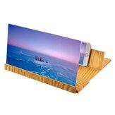 Loupe d'écran universelle en bois 12 pouces Image Enlarge Support de bureau pour téléphone portable