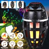 Outdoor bluetooth Speaker LED Flame Light Table Lamp Torch Atmosphere Bright Night Light DC5V