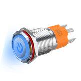 3000W 3 Pin Metal Latching Illuminated LED Switch Push Button Switch Waterproof Self-locking