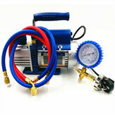 FY-1H-N 150W Vacuum Pump Air Condition Add Fluoride Tool Vacuum Pump Set with Refrigerant Table Pressure Gauge