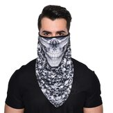 Quick Dry Breathable Riding Face Mask Skull Fashion Windproof Sunproof Outdoor Multifunction Triangle Scarf