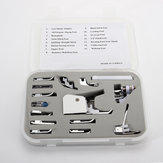 15Pcs Low Shank Sewing Machine Feet Presser Walking Foot Set Kit Tools