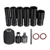 10pcs presa di corrente strappo Set di adattatori bit per mandrino autoserrante cacciavite