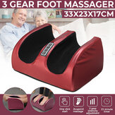 Electric Heating Foot Massager Machine Muscle Relaxation Leg Massager Kneading Blood Circulation Heat Therapy Massage Instrument
