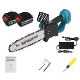 10 Inch 588VF Electric Chain Saw Woodworking Tool Portable Chainsaws w/ 1pc/2pcs Battery For Cutting Pruning