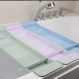 Home Bath Tub Tray Rack Over Bath Kitchen Extendable Soap Shower Storage Shelf