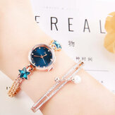 Elegant Crystal Lucky Star Pattern Ladies Quartz Watch