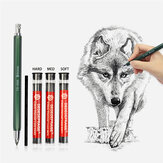 4mm Press Mechanical Charcoal Pencil Automatic Pencil For Sketch Painting School Office Supply Stationery Kid Drawing