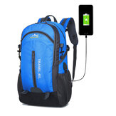40L Climbing Nylon Backpack Waterproof USB Sports Travel Hiking Climbing Unisex Rucksack