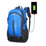 40L escalada Nylon mochila impermeável USB esportes viagem caminhada escalada mochila unissex