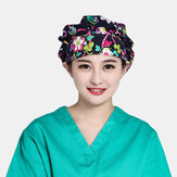 Printed Cotton Fluffy Cap Surgical Cap Sweat-absorbent Towel Scrub Caps