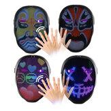 Smart Bluetooth LED DIY Mask Inteligentna zmiana twarzy Kontrola aplikacji Pełnokolorowa dioda LED świecąca DIY Lśniąca maska na Halloween Boże Narodzenie