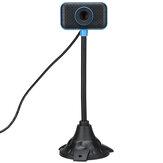 HD 640 * 480P Rotation libre flexible USB Webcam Conférence Live Focus manuel Plug and Play Caméra d'ordinateur Microphone intégré de réduction du bruit pour PC portable