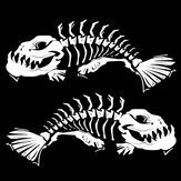 Skeleton Fish Vinyl Decal Stickers Car Truck Boat Kayak Fishing Graphics