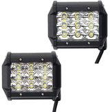 4 İnç LED Nokta / Taşkın Işın İş Işık Bar DC10-30V 27 W 2295LM 6000K Off Road Araç Kamyon için Bot