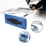 2-in-1 Snow Removal Adjustable Ice Scrapper Lightweight Winter Car Window Scraper Ice Snow Cleaning Brush