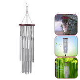 Home 27 Silver Tubes Wind Chimes Church Bells Hanging Decorations