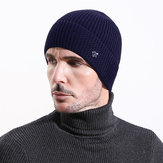 Mens Vintage Warm Thickened Double Layers Knitted Hat