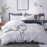 3/4 piezas juegos de cama lino simple Diseño sábana funda nórdica almohada Caso juegos para el hogar