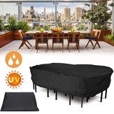 Garden Patio Furniture Winter Cover Impermeable Cubiertas de sillas de mesa rectangulares grandes