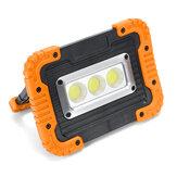 380W luz de inundação de trabalho recarregável portátil cob LED spot lâmpada de acampamento ao ar livre