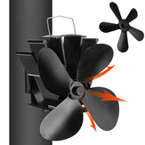 Loskii YL-603 4 Blade Heat Self-Power Wood Stove Fan Burner Efficient Fireplace Silent