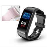 [HRV Index]Bakeey V3E ECG+PPG Heart Rate Blood Pressure SpO2 Monitor Lorentz Diagram GPS Route Track USB Charging Smart Watch
