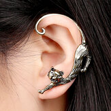 1 Pc Trendi Ear Stud Cuff Kiri Berlebihan Alloy Winding Cat