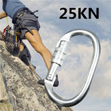 25KN Carabiner Buckle Mountain Clambing Lock Safe Quick O-Ring Tool