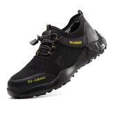 AtreGo Hommes Mesh Chaussures de Sécurité de Travail Orteil Acier Gros Trou Respirant Running Chaussures de Randonnée Chaussures de Travail