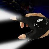 Unisex LED Light Outdoor Sport Night Fishing Wodoodporne rękawiczki z pół palcami