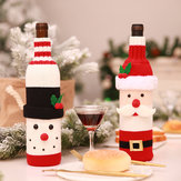 Christmas Santa Claus Knitting Alcohol Bottle Cover voor Bar