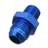 Male AN8 To 3/8inch NPT Thread Aluminum Straight Fuel Oil Hose Fitting Adapter Blue