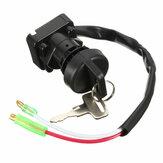 Interruptor de ignição com 2 chaves para Kawasaki klf300 Bayou 300 1997-2003 atv