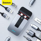 Baseus 9 in 1 USB-C Hub Docking Station Adattatore per laptop con 3 * USB 3.0 / 2 * Thunderbolt 3 / 100W Type-C PD / 5K @ 60HZ HD Display/RJ45 Porta / jack audio da 3,5 mm