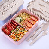 3 Grids Microwave Heating Lunch Box Bento Box Food Fruit Storage Container Refrigerator Fresh Box Pink/Blue