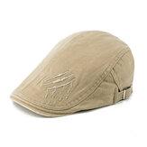 Chapeaux de béret de peintre de broderie de coton d'hommes de femmes