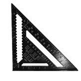 Aleación de aluminio de 300 mm Speed Rafter Square Triángulo Ángulo Cuadrado Guía de diseño Carpintería herramienta
