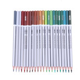 Deli 24/36/48 Colors Pencils Watercolor Drawing Painting Pencil Set School Art Supplies Stationery Gift For Kids Students