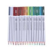 Deli 24/36/48 Warna Pensil Cat Air Gambar Lukisan Pensil Set Perlengkapan Sekolah Alat Tulis Hadiah Sekolah Anak-anak Siswa Perlengkapan
