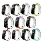 Bakeey geverfd patroon vervangende siliconen horlogebandriem voor Xiaomi Band 4 & 3 slimme horlogeband niet-origineel