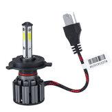 2 قطع 40 واط 8000lm 6000 كيلو H4/H7/9005/9006/H11 LED المصابيح الأمامية شعاع المصابيح العالية والمنخفضة مشرق 4-Side 9-36V IP68
